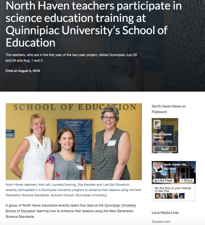 North_Haven_teachers_participate_in_science_education_training_at_Quinnipiac_University's_School_of_Education_–_North_Haven_News